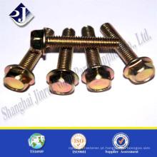 Parafuso de flange do produto principal Parafuso de flange de zinco Din6921 parafuso de flange