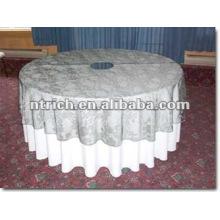 Superposición y paño de tabla del poliester de la boda