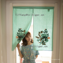 wholesale cotton linen colorful Lu Embroidery door curtain /window curtain