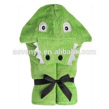 Alligator-Soft Baby 100% coton utilisation pour bain, plage, piscine, serviette à capuche bébé et enfant, serviette animale mignon