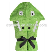 Jacaré-Soft Bebê Orgânico 100% algodão uso para banho, praia, piscina, bebê e criança com capuz toalha, toalha animal bonito