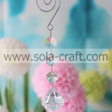 Exporter of 14CM Clear Grade A Acrylic Cut Diamond Home Beaded Garland Prism
