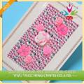высокое качество красивые розовые акриловый камень стикер