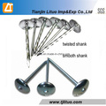Low Rate Supply Roofing Nail with Umbrella Head