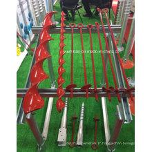 Tarière manuelle de terre d'utilisation de jardin de cadre en acier, ancre au sol
