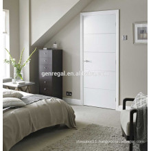 Flush wood white paint bedroom door