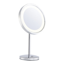 Round+standing+makeup+mirror+with+lights