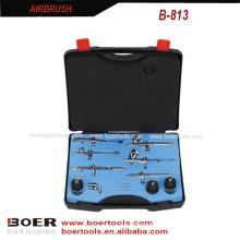 6PCS Airbrush Kit airbrush coloré boîtier de soufflage