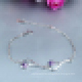 Damenmode Natürliche Zirkon Lila Kristall Armband