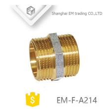 EM-F-A214 NPT rosca macho latón adaptador de tubería de adaptación