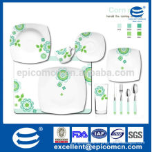 hot sale floral design new bone china dinner set with soup plate