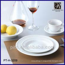 Ensemble de vaisselle design design élégant à porcelaine de 30 pièces