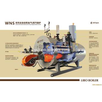 WNS natural gas fired steam boiler, oil steam boiler best price