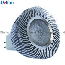3W Dimmable prata branco MR16 LED Spot Light (DT-SD-015A)