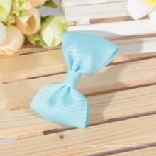 blue ribbon hair/ handmade ribbon bows/grosgrain ribbon bows
