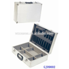 Caliente venta portátil herramienta almacenamiento caja de aluminio con plataforma abatible