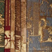 Tecido de chenille para estofados para uso em têxteis domésticos