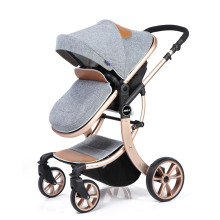 Poussette bébé de luxe cadre en alliage d'aluminium poussette à baldaquin en coton 360 roue rotative poussette bébé multifonctionnelle
