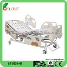 5 function adjustable hospital bed with central locked system