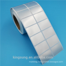Polyester PET matte sliver vinyl blank label sticker with low price