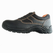Work Working Shoe with Upper Split Embossed Leather Sole PU