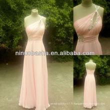 NW-379 Une épaule en mousseline de soie robe de soirée