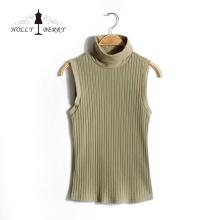 Nouvelle arrivée printemps tricoté menthe femmes sans manches gilet