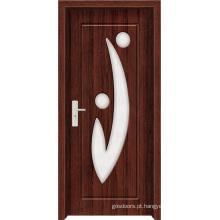 Porta de madeira moderna com vidro (WX-PW-143)