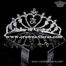 16th Crystal Birthday Crowns-Number Can Be Changed