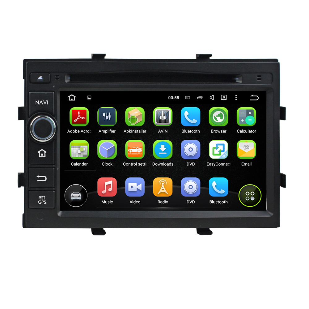 DVD per auto Android per Chevrolet Cobalt / Spin / Onix 2012
