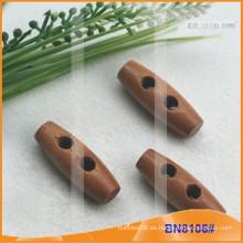 Moda de madera natural cuerno botón para las prendas de vestir BN8106