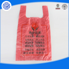 Grocery plastic packaging with handle