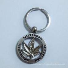 Holland Amsterdam Cadeau touristique Porte-clés Maple Leaf métallique (F1407)