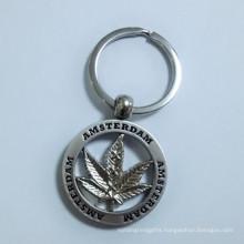 Holland Amsterdam Tourist Gift Metal Maple Leaf Key Holder (F1407)