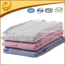 Eigene Fabrik Baby Company Organic Cotton Pullover gewebte Plain Natural Kinder Decke