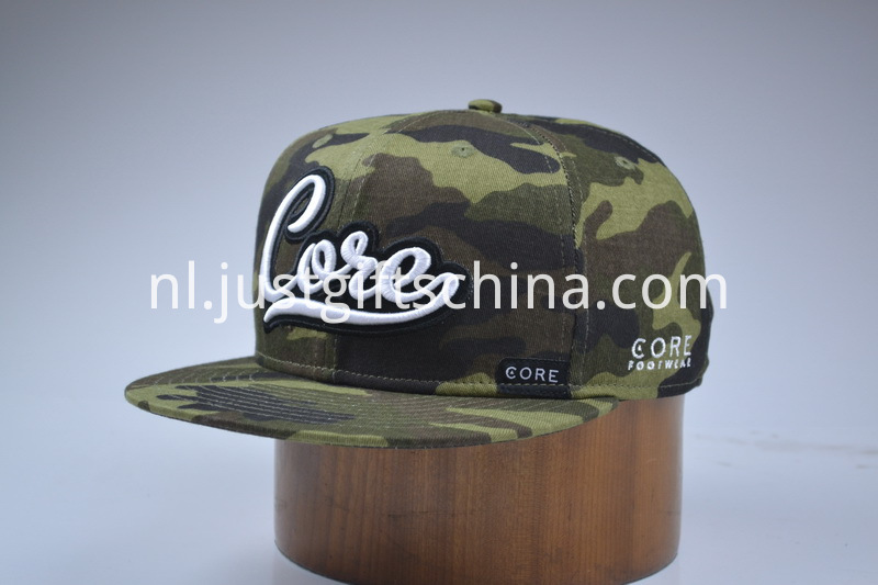 Custom Embroidered Snapback Cotton Cap Camouflage Colour (2)