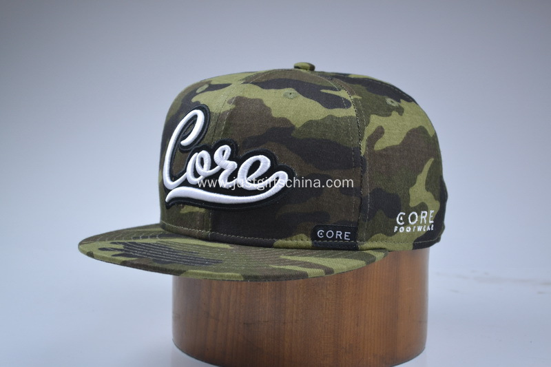 Custom Embroidered Snapback Cotton Cap Camouflage Colour