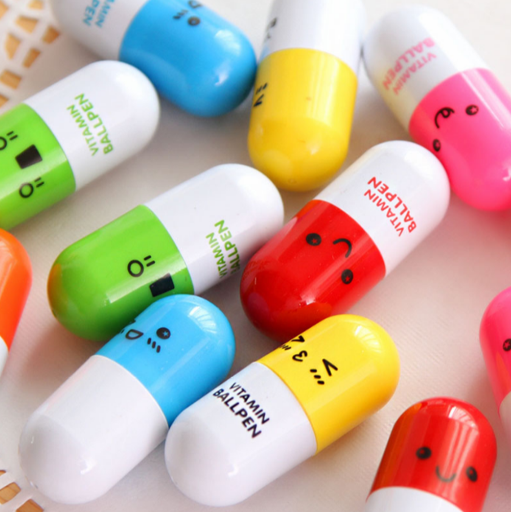 Novelty Cheap Mini Pill Shaped Ball Pen