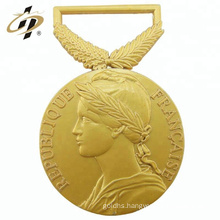 2018 new design antique 3D gold metal medallion for souvenir
