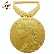 2018 novo design antigo medalhão de metal ouro 3D para lembrança