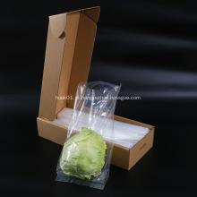 Saco de comida quente de frutas de legumes vegetais com caixa