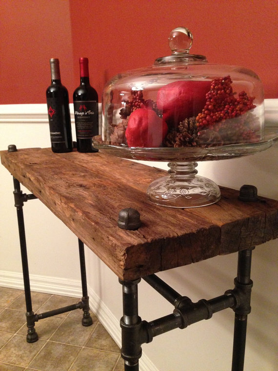 reclaim barn pipe fitting table