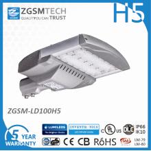 Lanterna de rua LED de 100W ao ar livre com Lumileds 3030 e Inventronics Eug