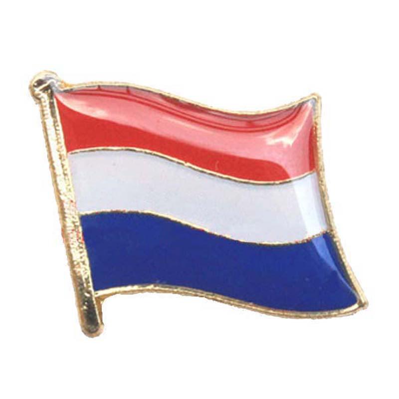 Netherlands Flag Lapel Pin Made of Metal Souvenir