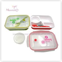 4 отсека еда контейнер пластиковый обед коробки с посудой (950ml)