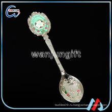 Массовые металлические ложки, серебряная ложка для младенцев, гравированная серебряная ложка