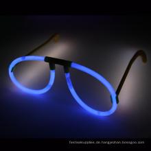 blaue Glow Stick Brille