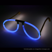 Gafas de palo de resplandor azul