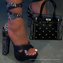 Hot Selling 2021 New Fashion Trending Ladies Matching Set of Sexy Shoe High Heels And Handbag For Nigeria Party
