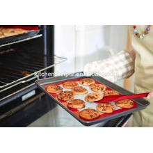 China Professional Hersteller Lebensmittel Grade Hitzebeständige wiederverwendbare Antihaft-Fiberglas Silikon Backmatte für Ofen